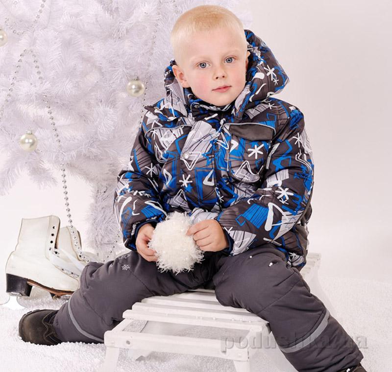 Куртка зимняя для мальчика Модный карапуз 03-00543 светло-синяя