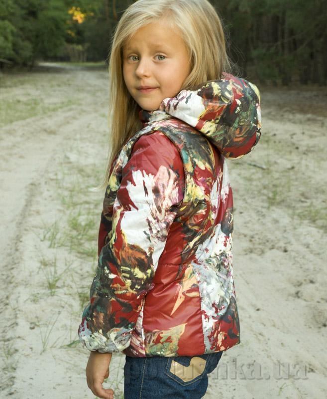 Куртка-жилет для девочки Модный карапуз 03-00488 акварель бордо