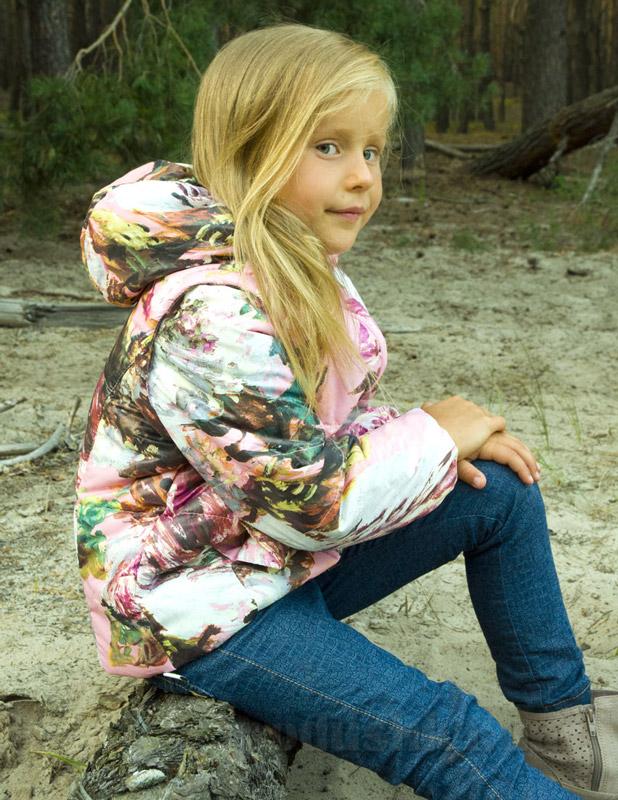 Куртка-жилет для девочки Модный карапуз 03-00488 розовая акварель