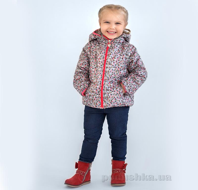 Куртка-жилет для девочки Модный карапуз 03-00560 Цветная Яблочки