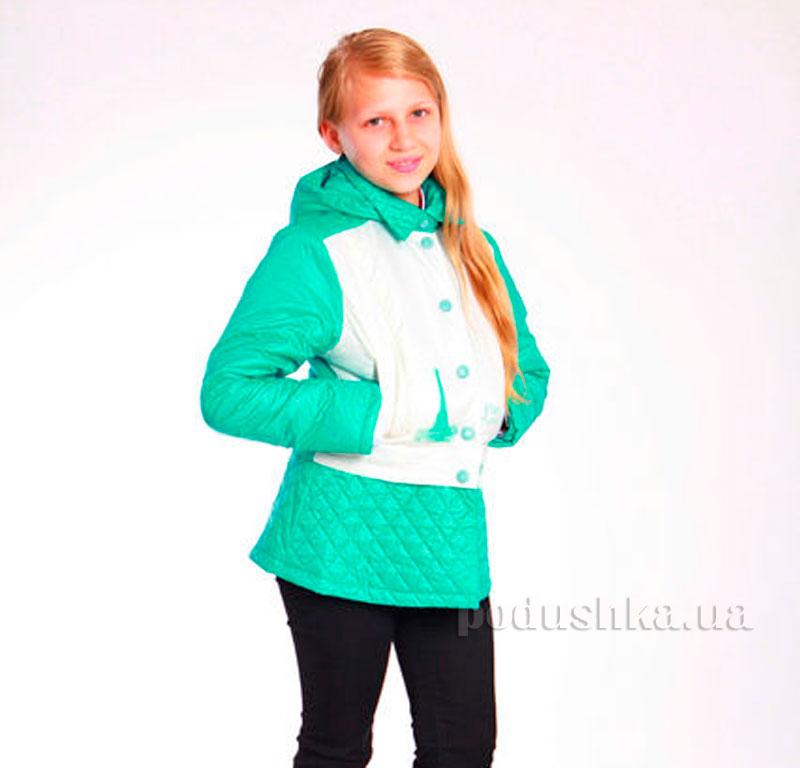 Курточка-трансформер для девочки Димакс КуД 53 молочный-мята