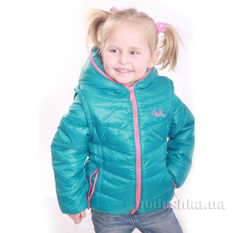Курточка-жилет для девочки Димакс КуД 90 бирюзовая