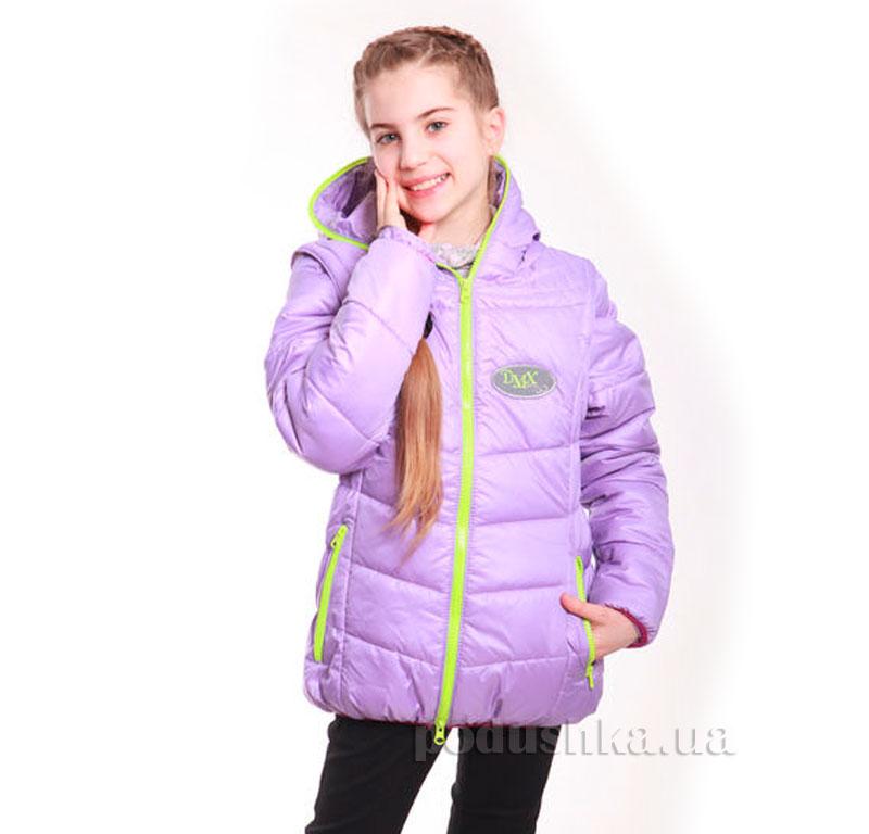 Курточка-жилет для девочки Димакс КуД 90 сиреневая