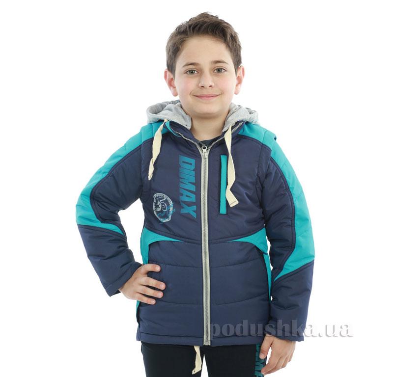 Курточка-жилет для мальчика Димакс КуМ 105 сине-бирюзовый