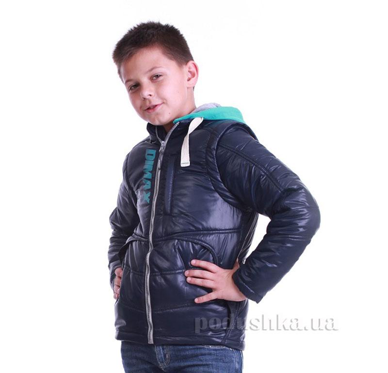Курточка-жилет для мальчика Димакс КуМ 105 синяя