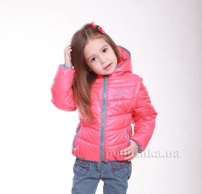 Курточка-жилет для девочки Димакс КуД 90 коралловая