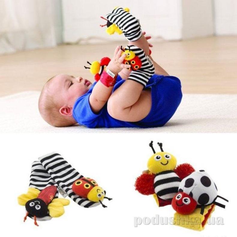LC27111 Набор для малышей Погремушки на запястье и тапочки с погремушками LC27111 Tomy