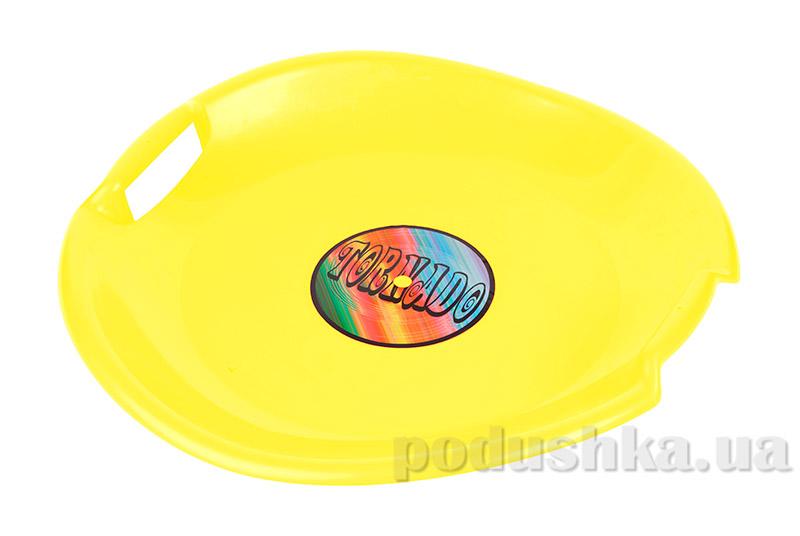 Ледянка Plast Kon Tornado желтая SAN-01-21