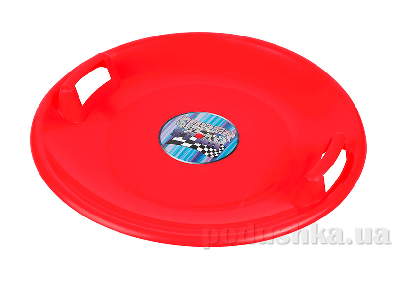 Ледянка-диск Plast Kon Super Star красная SAN-02-02
