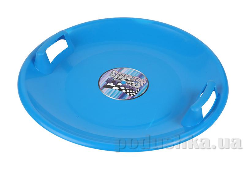 Ледянка-диск Plast Kon Super Star синяя SAN-02-04