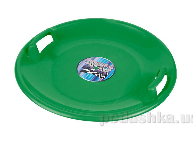 Ледянка-диск Plast Kon Super Star зеленая SAN-02-03