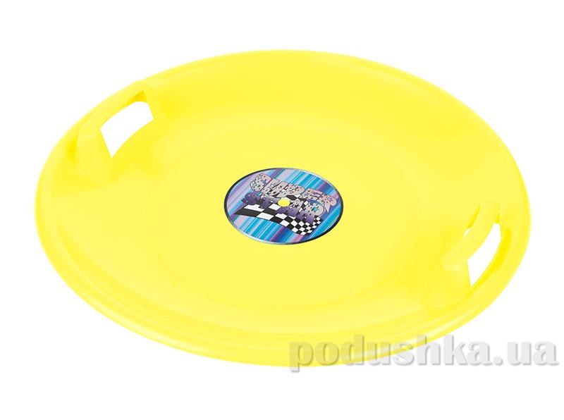 Ледянка-диск Plast Kon Super Star желтая SAN-02-01