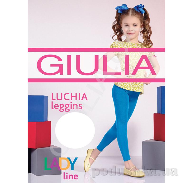 Леггинсы белые с эффектом блеска 150 Den Luchia Giulia Bianco