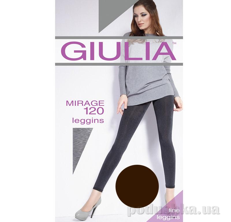 Леггинсы темно-коричневые меланжевые 120 Den Giulia Mirage Caffe