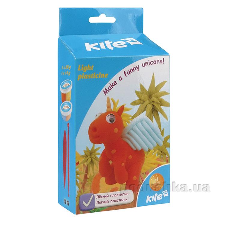 Легкий пластилин Kite Единорог K15-278-3К