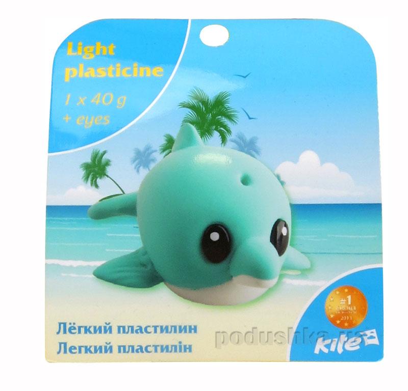 Легкий пластилин с глазками Kite Дельфинчик K15-277-7К