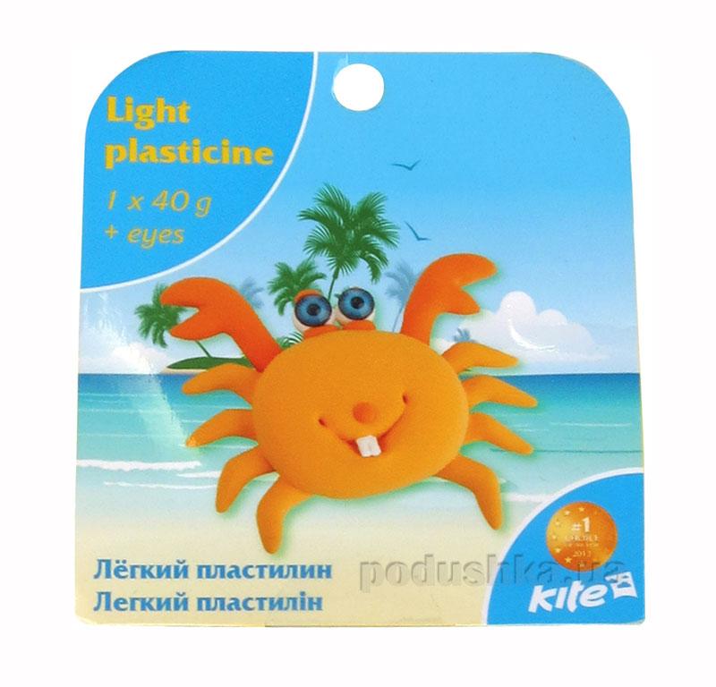 Легкий пластилин с глазками Kite Крабик K15-277-8К