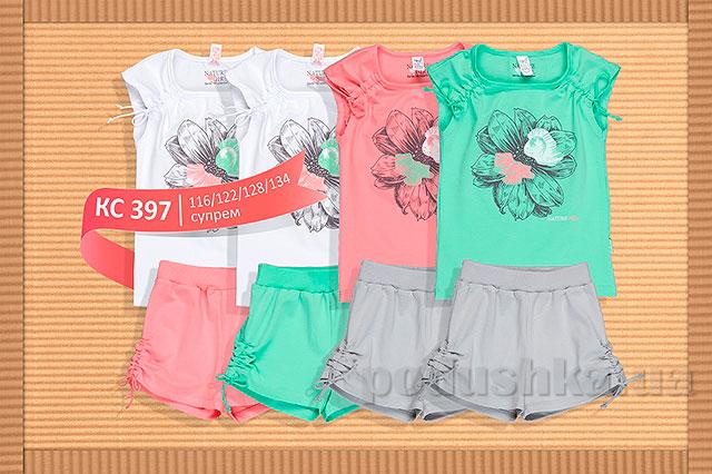 Летний костюм для девочки Бемби КС397 супрем