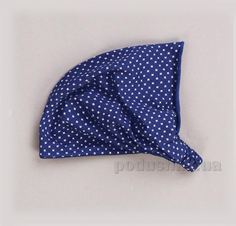 Летняя косынка-повязка для девочки Бемби ГУ67 синяя