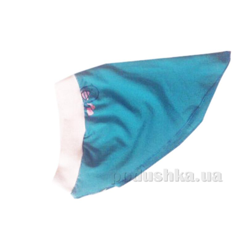 Летняя косынка-повязка для девочки Бемби ГУ9 голубая