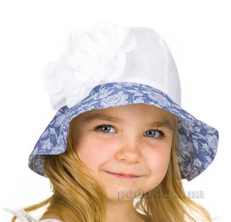 Летняя панамка Pupill Marietta белая с голубым
