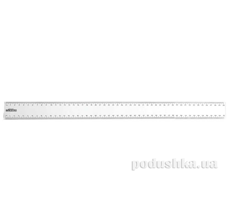 Линейка 50 см пластиковая Маеstro 1 Вересня 1-370353
