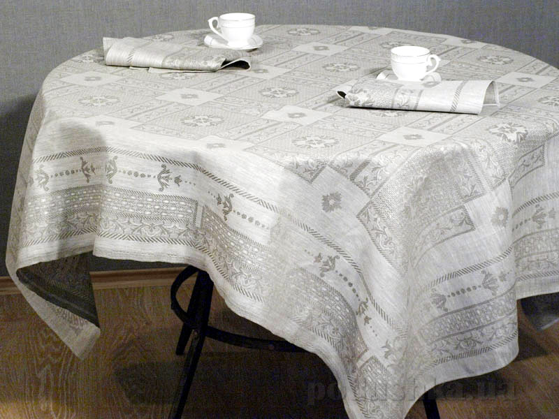 Льняная скатерть с салфетками Гламур 4с69-ШР