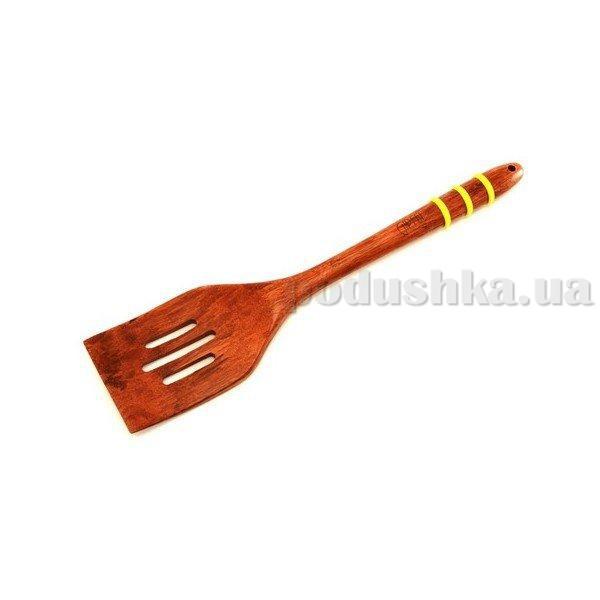 Лопатка для салата с прорезями Gipfel 30,5х7,0х1,9 см (бамбук, силикон)