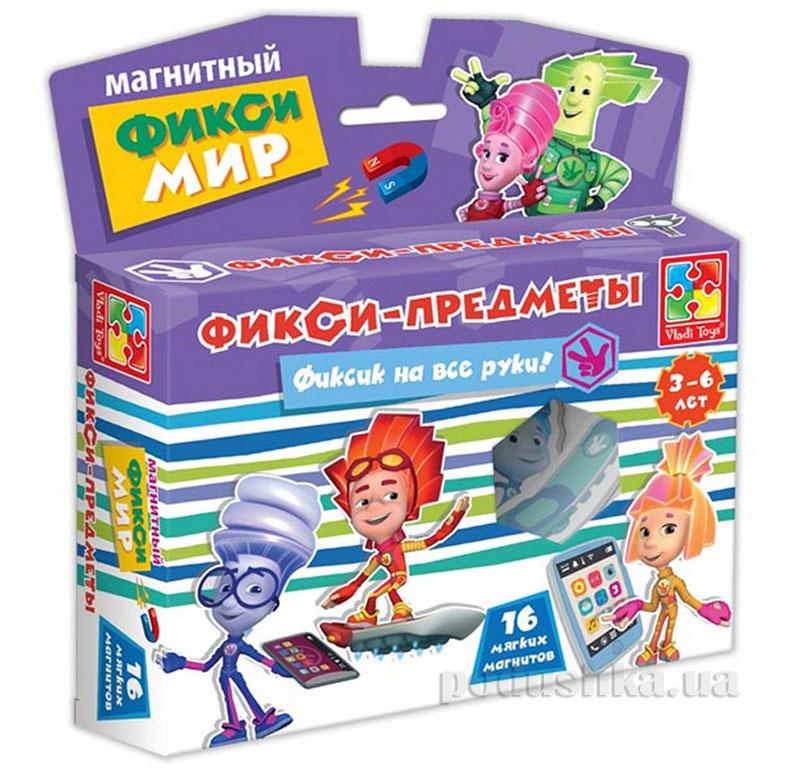 Магнитный набор Разноцветные человечки Предметы 16 шт Vladi Toys