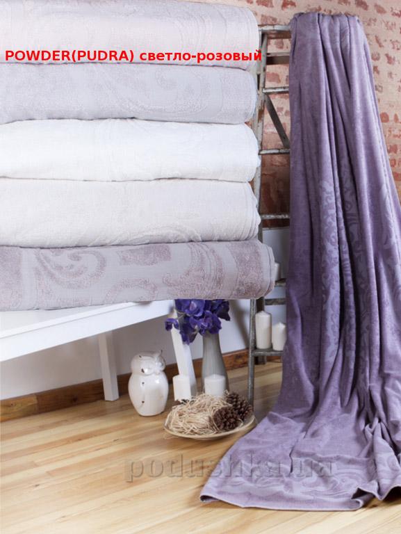 Махровая простынь-покрывало Pavia Lotus Powder светло-розовый