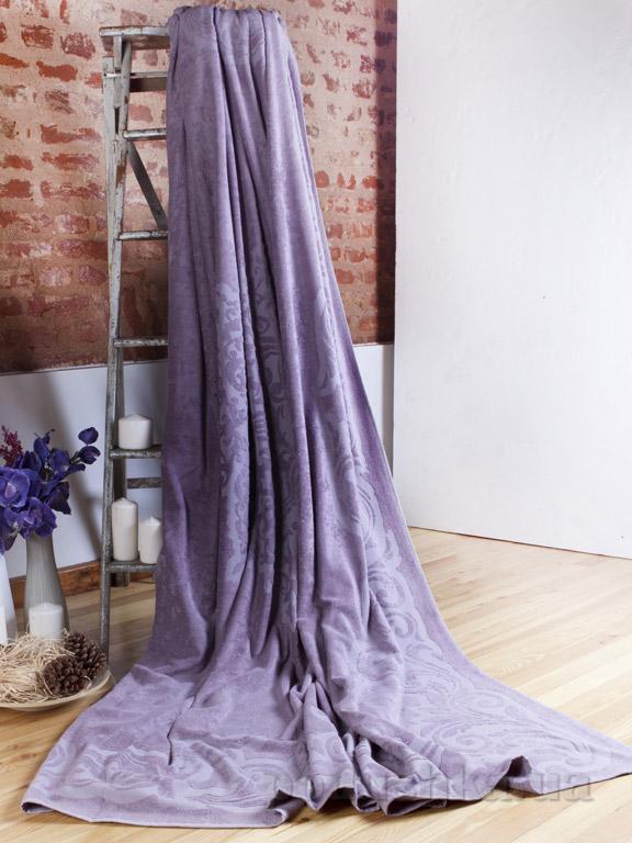 Махровая простынь-покрывало Pavia Lotus purple пурпурная