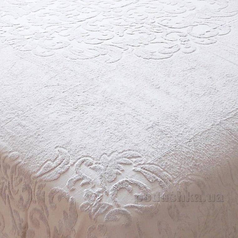 Махровая простынь-покрывало Pavia Monogram grey серая