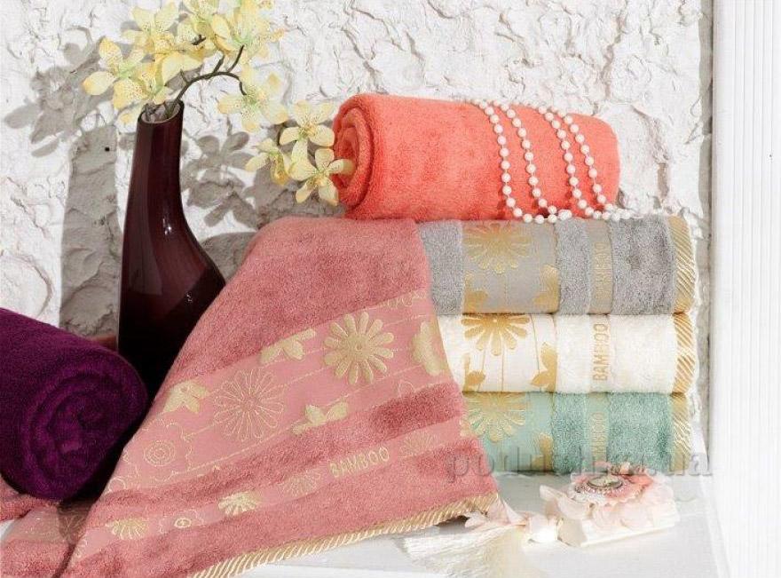 Махровое полотенце Arya Papatya Cizgili