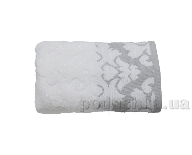 Махровое полотенце Boncasa Damask 1726 FE White/Grey