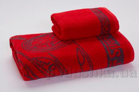 Махровое полотенце Cool Sport car красное