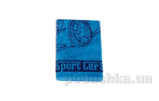 Махровое полотенце Cool Sport car синее