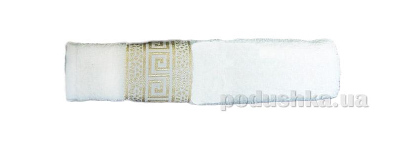Махровое полотенце Hanibaba Grek белое
