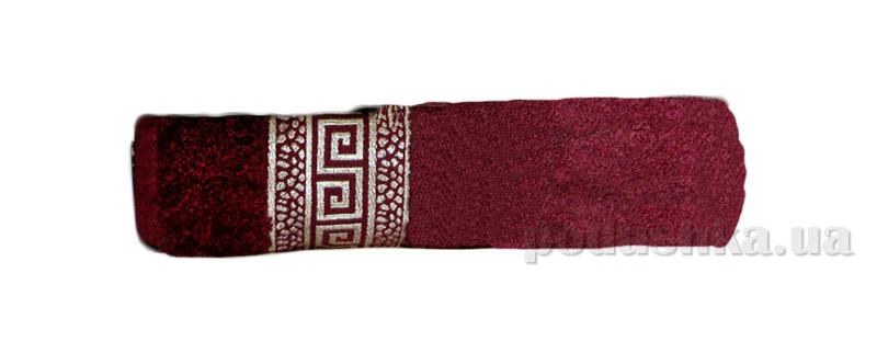 Махровое полотенце Hanibaba Grek бордовое