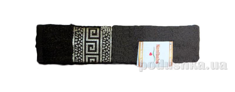 Махровое полотенце Hanibaba Grek коричневое