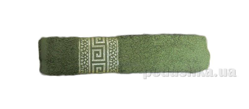 Махровое полотенце Hanibaba Grek оливковое