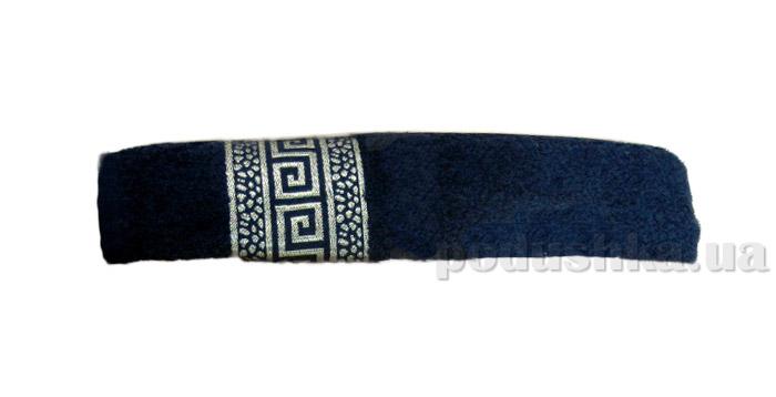 Махровое полотенце Hanibaba Grek темно-синее
