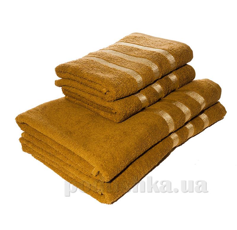Махровое полотенце Izzihome C. Basik K.Gold горчичное
