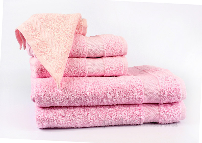 Махровое полотенце IzziHome Smiley розовое 30х30 см  Izzihome
