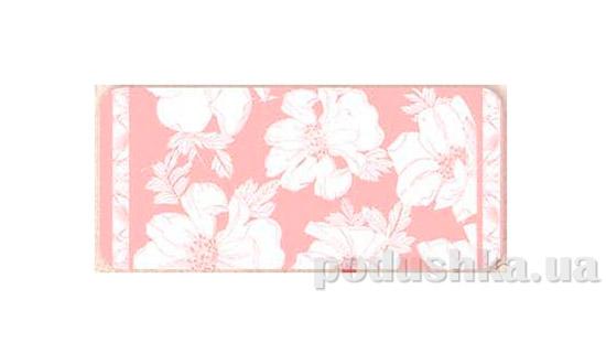 Махровое полотенце Романтика Флора розовое