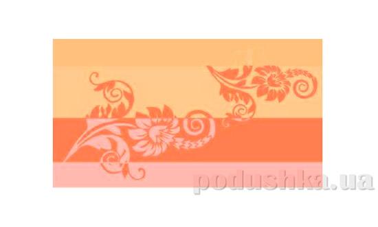 Махровое полотенце Романтика Изабель оранжевое