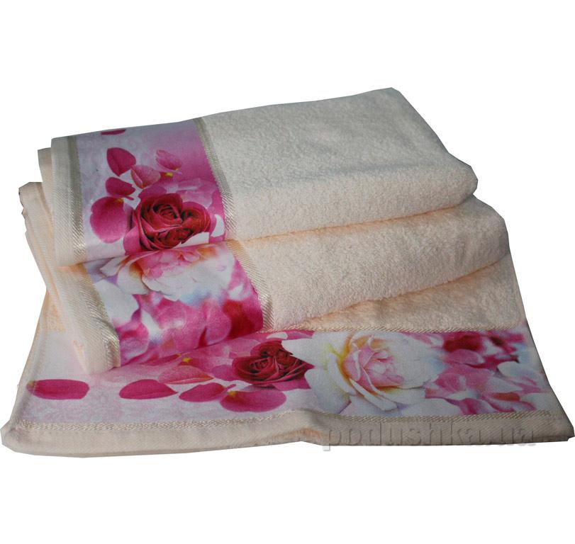 Махровое полотенце Романтика Нежность крем-брюле