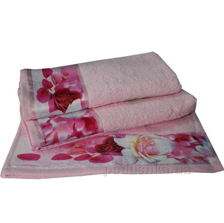 Махровое полотенце Романтика Нежность розовое