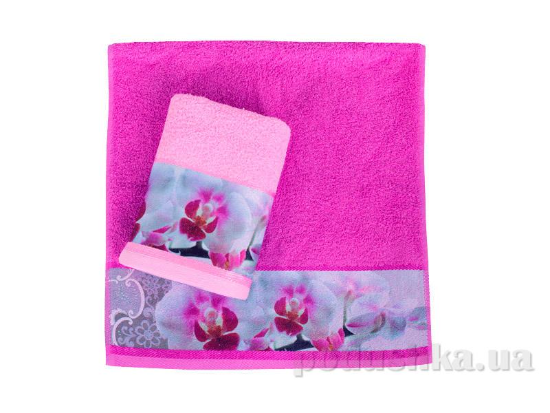 Махровое полотенце Романтика Орхидея кремовое