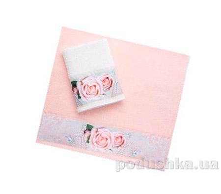 Махровое полотенце Романтика персиковое