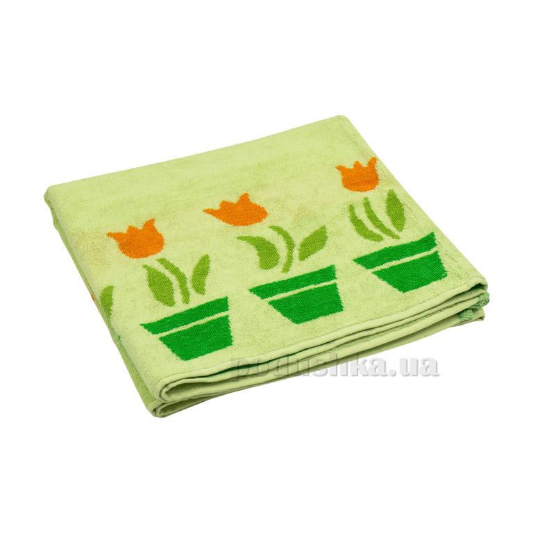 Махровое полотенце Руно Лалале салатовое